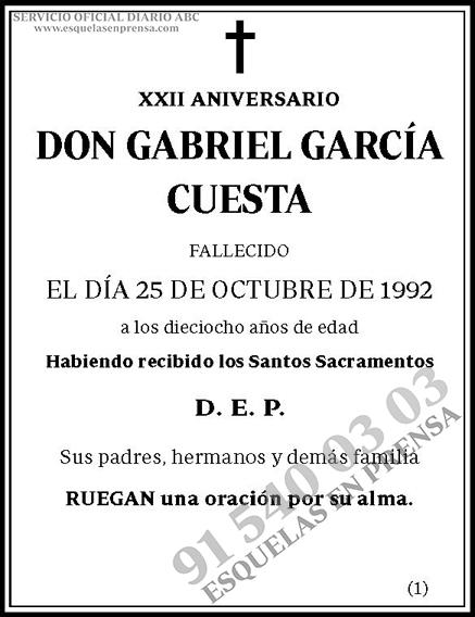 Gabriel García Cuesta
